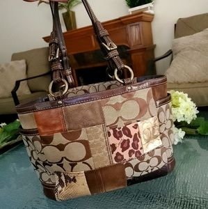 Coach Bags - Authentic Coach Patchwork Tote